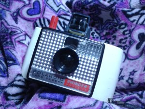 thrift store find polaroid swinger