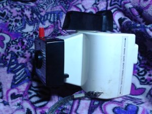 polaroid land camera, swinger model